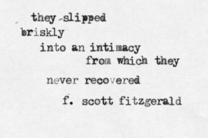 Scott Fitzgerald's quote.
