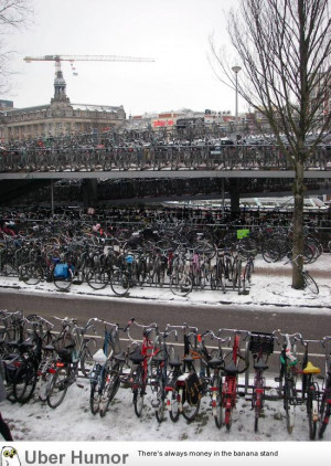 The average parking lot in The Netherlands.