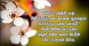 Sinhala Birthday Quotes