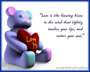 Blowing Kisses Cute Love Quote