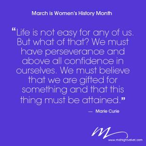 We celebrate Women's History Month here at Midnight Velvet.