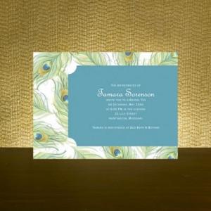 Pretty Peacock - Bridal Shower Invitation