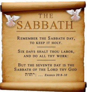 So true. This is why we do our best to keep the sabbath day holy by ...