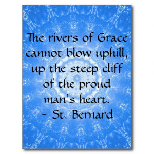 St. Bernard Spiritual Quote RECOVERY Post Card