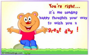Wishing you a great day