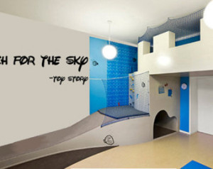 Reach For The Sky Disney Toy Story Vinyl Wall Decal Quote Lettering ...