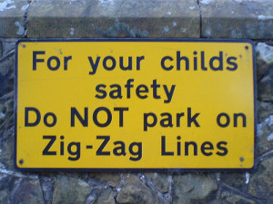 School safety signs include