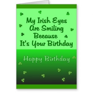 Irish Eyes Birthday Greeting Cards