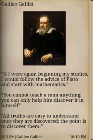 book application that contains the great quotes of 8 famous scientists ...