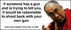 allergic2religion:Dalai Lama speaks about Gun.The Dalai Lama loves ...