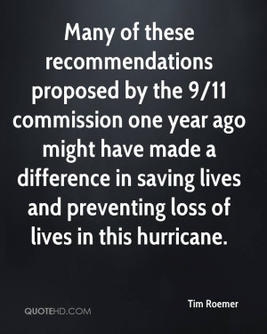 Many of these recommendations proposed by the 9/11 commission one year ...