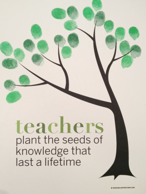 Classroom Fingerprint Tree- perfect gift for teacher appreciation or ...