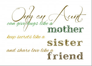 only an aunt can 5 I Love My Aunt Quotes