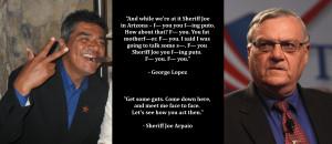Graphic Quotes: George Lopez vs. Sheriff Joe Arpaio