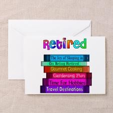 Retired Professionals Greeting Card for