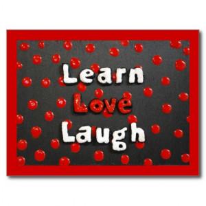 Black, White & Red Polka Dot Inspirational Quote Postcard