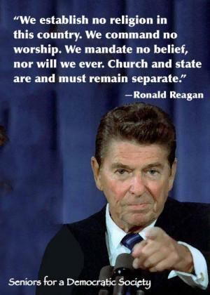 Ronald Reagan on religion