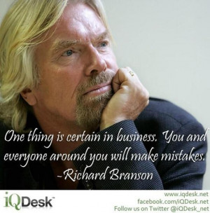 Words of Wisdom from Richard Branson... True for life also #Quote # ...