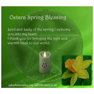Ostara Candle Blessing