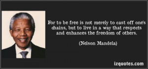 ... Memorable Quotes from a World Legend, Freedom Fighter and True Leader