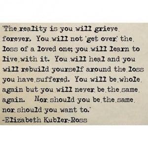 Elizabeth Kubler- Ross quote