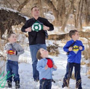 Awesome superhero family photo shoot