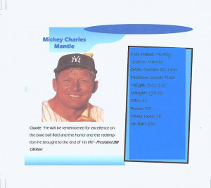 Mickey Mantle t-shirt design created by class 6-107