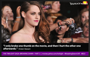 Twilight' Stars Speak at the 'Breaking Dawn - Part 2' Premiere ...