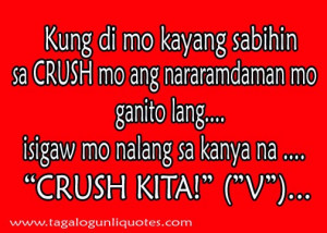 Tagalog Quote for Stupid Feeling - CRUSH or In-Love?