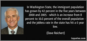 In Washington State, the immigrant population has grown by 42 percent ...