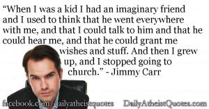 Jimmy Carr – I had an imaginary friend