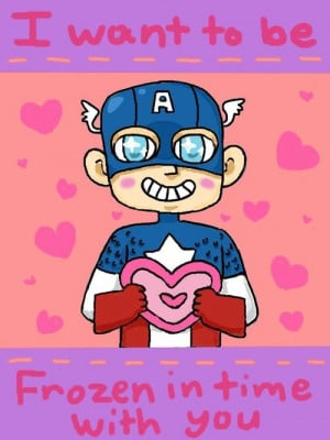 Captain America Valentine. Perhaps one of the most romantic I've ever ...