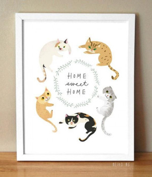 The sweetest type of home? One with cats, of course! #catslife