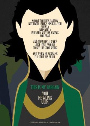 Avengers quote #Loki #Thor #Avengers
