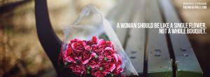 Single Flower Facebook Cover