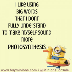 like using big words… #funny #quote #minionquote