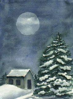 Full Snow Moon of February by Grace BlackBear on Etsy