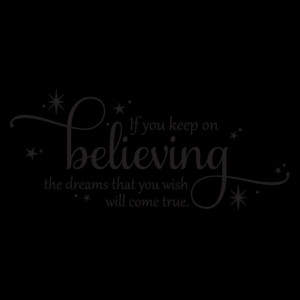 dream hope wish believe wall sticker vinyl quotes and sayings home