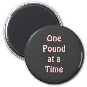 Inspiring Weight Loss Quote Magnet Refrigerator Magnet