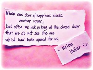 Helen keller, quotes, sayings, door of happiness, inspiring