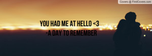 YOU HAD ME AT HELLO 3 -A DAY TO REMEMBER