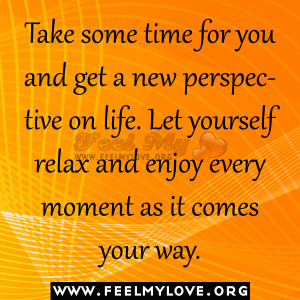 Take Some Time For You And...