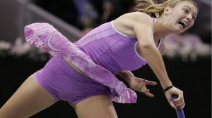 Maria Sharapova Beautiful Tennis Playing Style