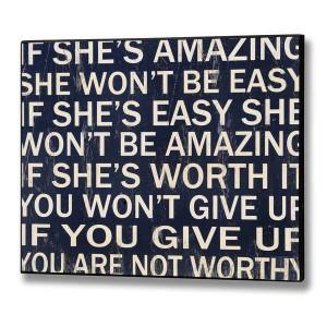 if she's amazing...