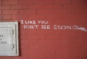 funny, graffiti, like you, love, photo, quote, quotes, words