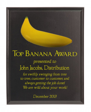 Top Banana Achievement Award Plaque