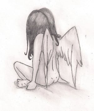 little angel drawing by thisescape traditional art drawings other 2010 ...