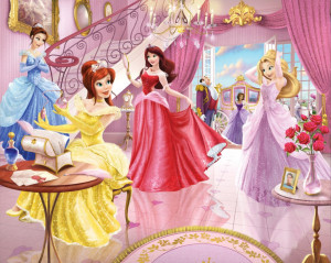 Picture 4 for Beauty Disney Princess Wallpaper for Kids Room on ...