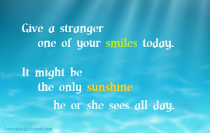 give a stranger a smile