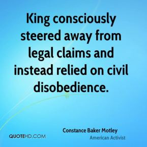 King consciously steered away from legal claims and instead relied on ...
